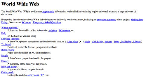 The very first website was designed in 1991