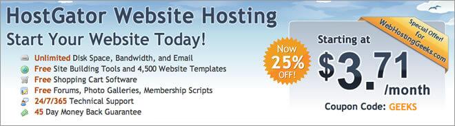 HostGator website hosting