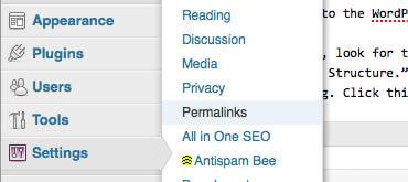 setting permalinks