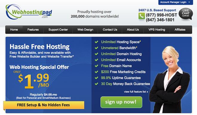 webhostingpad website
