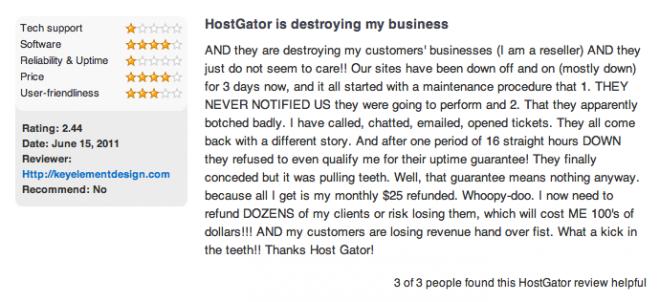 HostGator: Common Customer Complaints
