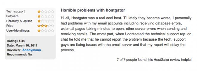 hostgator complaint