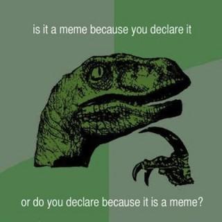 meta-meme philosoraptor