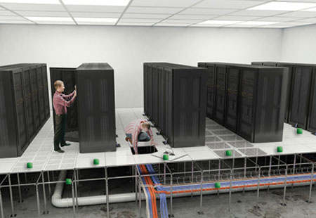 Spacious planning of data center will allow efficient operations and proper cooling.