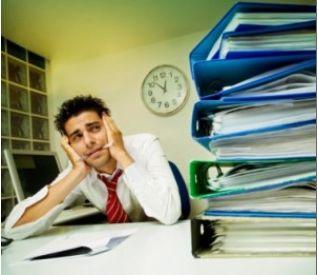 Overloaded employee