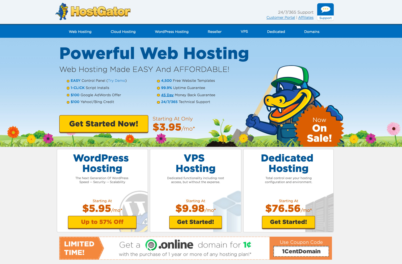 hostgator website