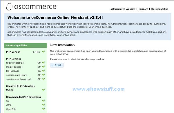 install osCommerce