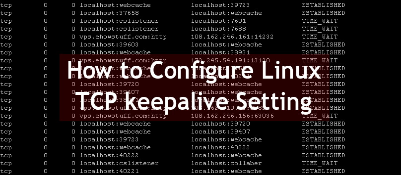 TCP keepalive Setting