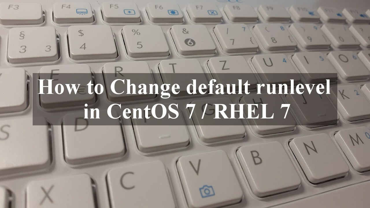 Change default runlevel