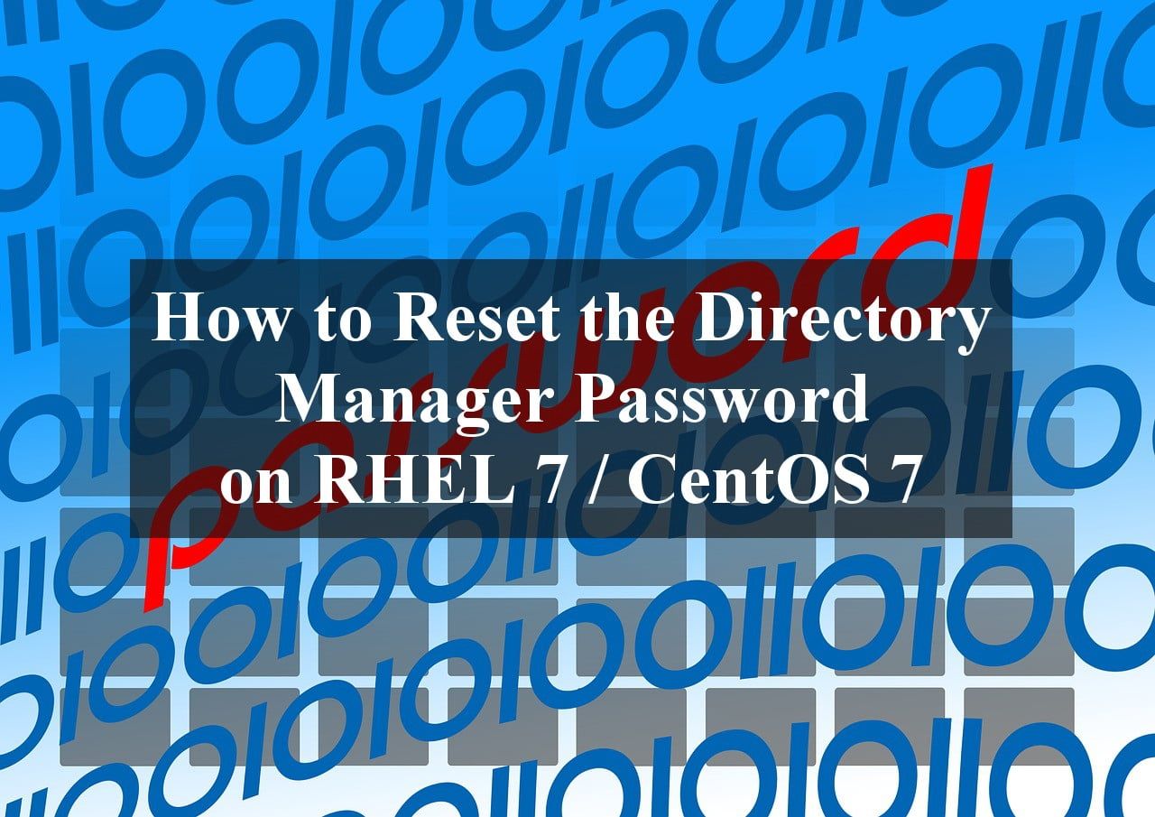 Reset the Directory Manager Password