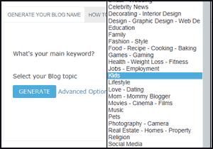 Now Select Your Blog Topic,