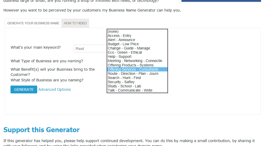 Business Name Generator - Free Online Tool - Cool Name Ideas